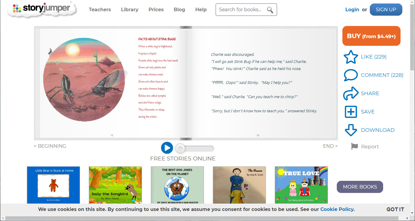 story-jumper website.