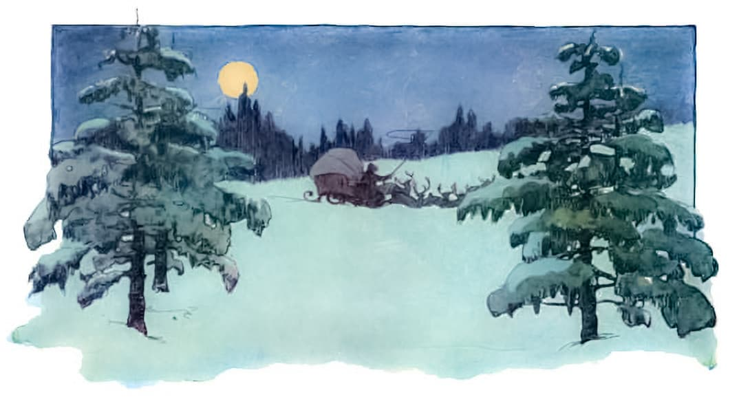 Santa Leaving.